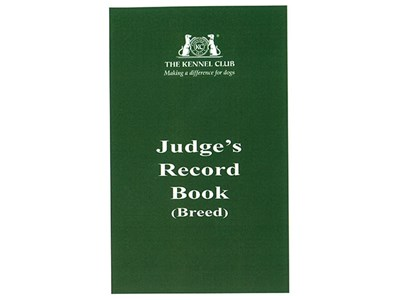 Judges record book cover