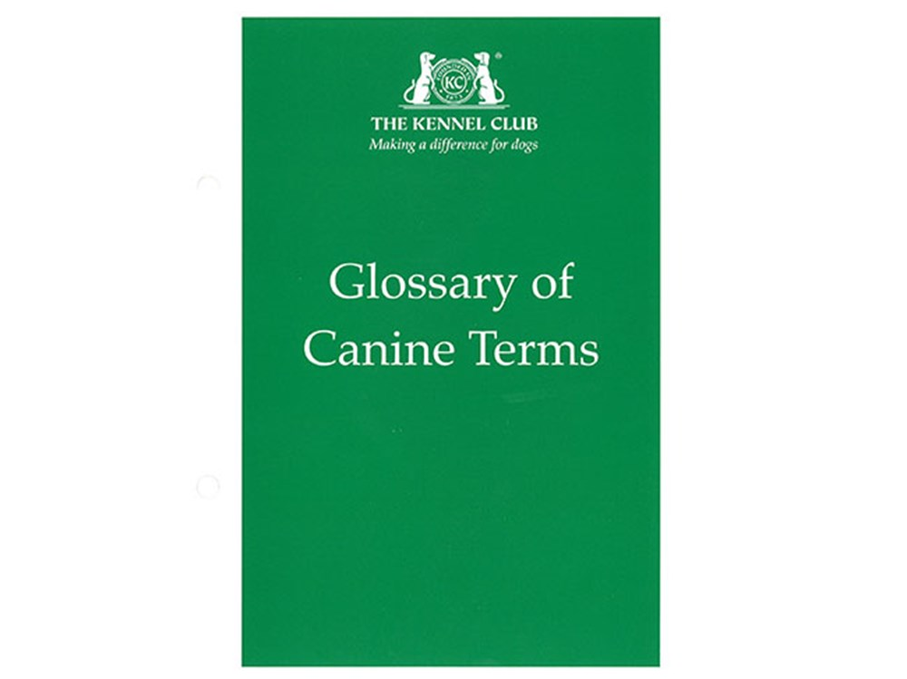 Glossary of Canine Terms cover