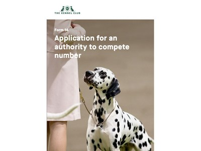 Application for an Authority to Compete Number - cover