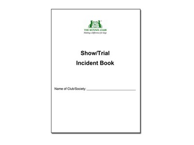Incident book cover
