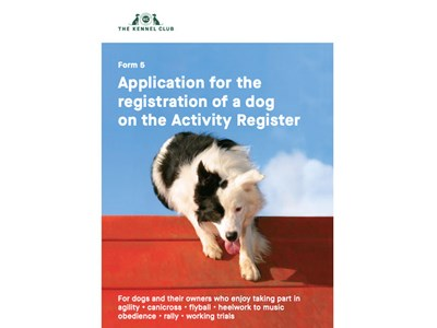 Activity Register form - cover